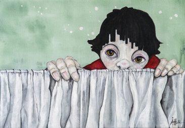 Jag gömmer mig (35x50 cm, akryl)