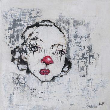 Ruth (40x40 cm, akryl)